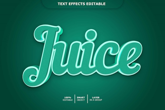 Effet de police modifiable juice