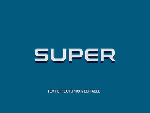 Effet de police modifiable simple style texte bleu moderne