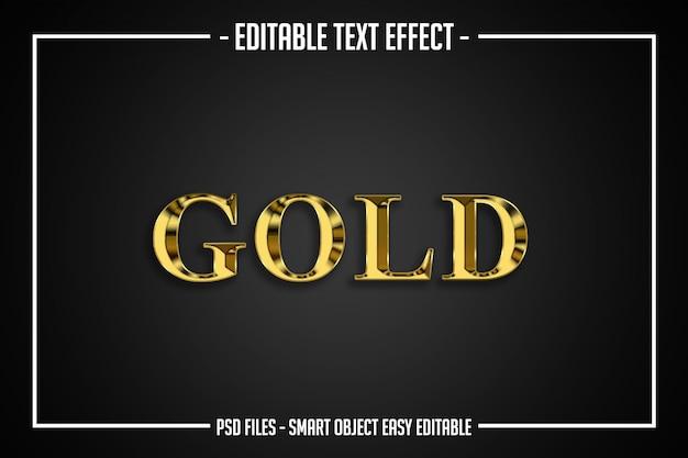 Effet de police modifiable de style de texte d'or de luxe