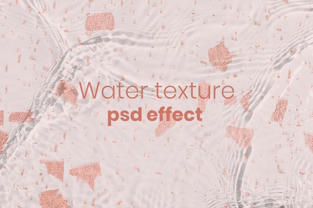 Effet psd de texture de l'eau, ajout de superposition facile