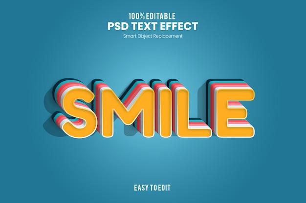 Effet smiletext
