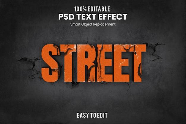 Effet streettext