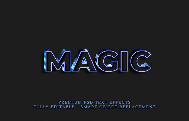 Effet de style magique, effets de texte premium