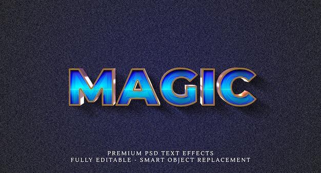 Effet de style magique, effets de texte