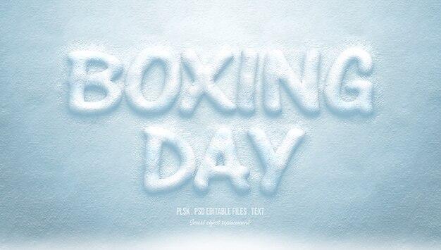 Effet de style de texte 3d boxing day