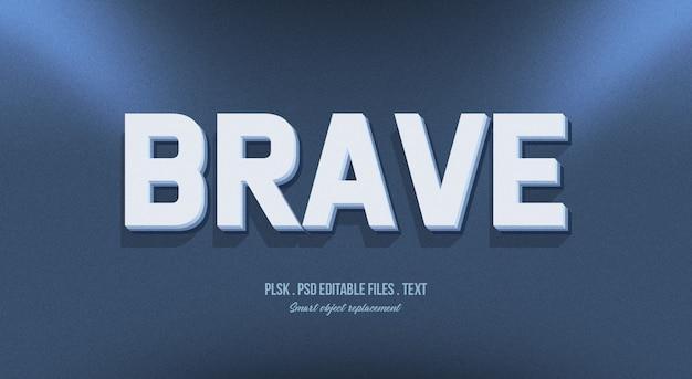 Effet de style de texte 3d courageux