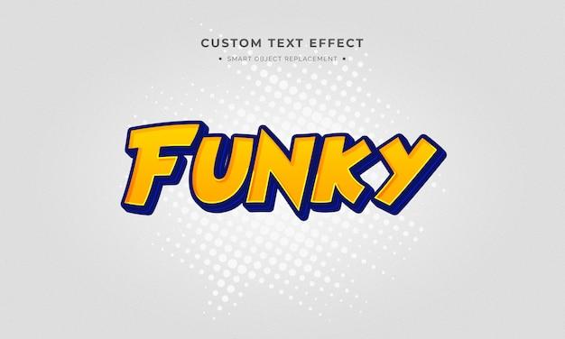Effet de style de texte 3d de dessin animé
