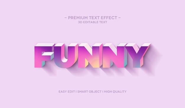 Effet de style de texte 3d drôle