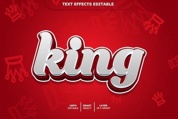 Effet de style de texte 3d king