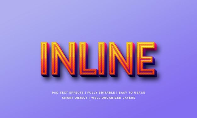 Effet de style de texte 3d en ligne