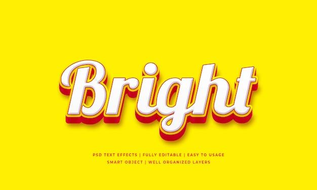 Effet de style de texte 3d lumineux