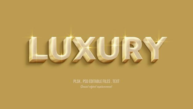 Effet de style de texte 3d de luxe