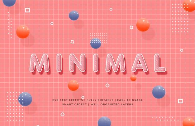 Effet de style de texte 3d minimal