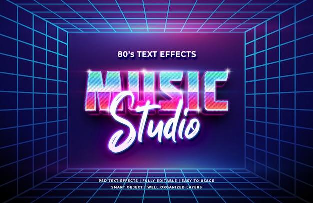 Effet de style de texte 3d de music studio