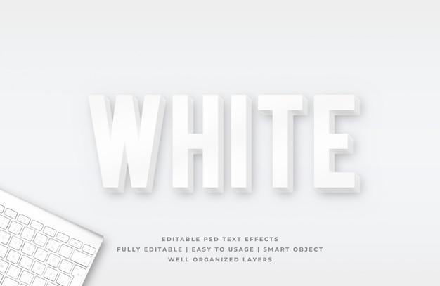 Effet de style de texte 3d propre blanc
