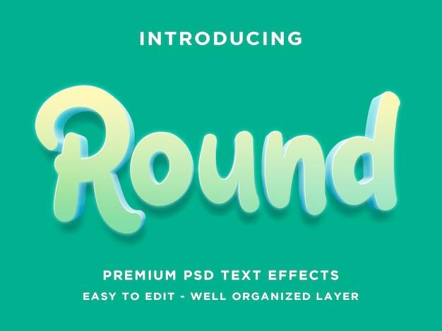 Effet de style de texte 3d rond