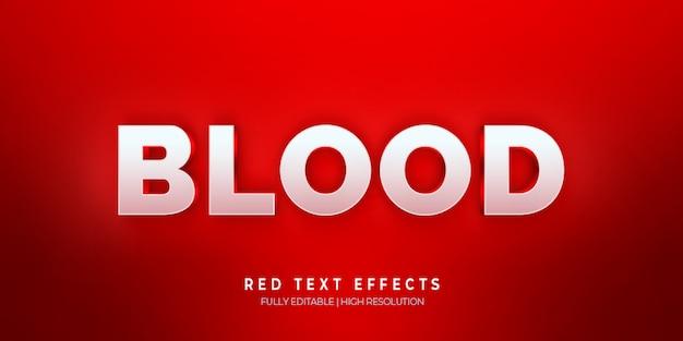 Effet de style de texte 3d sang rouge