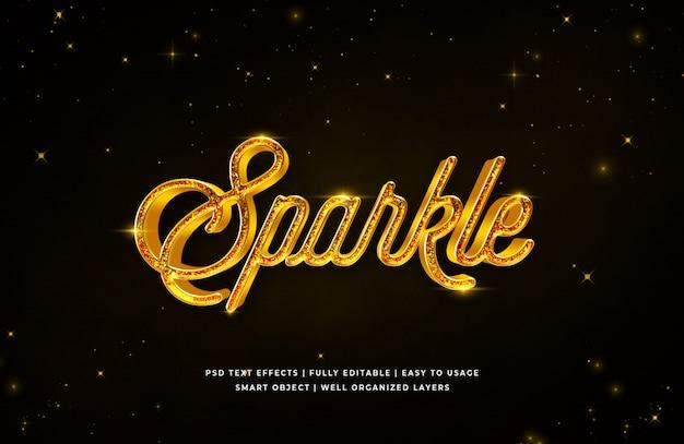 Effet de style de texte 3d sparkle