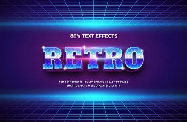 Effet de style texte 3d style rétro