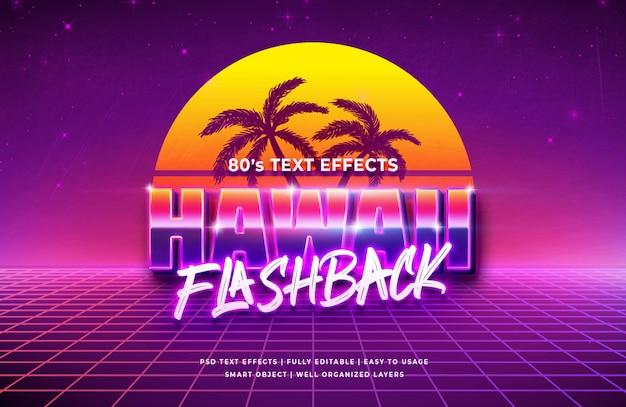 Effet de style de texte 3d sunset beach