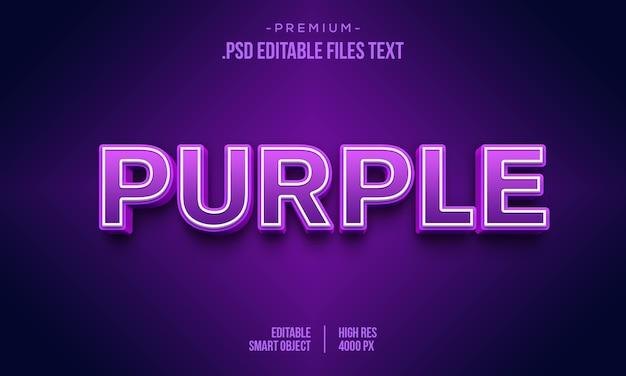 Effet de style de texte 3d violet rose
