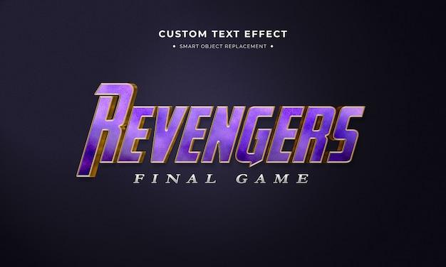 Effet de style de texte 3d violet