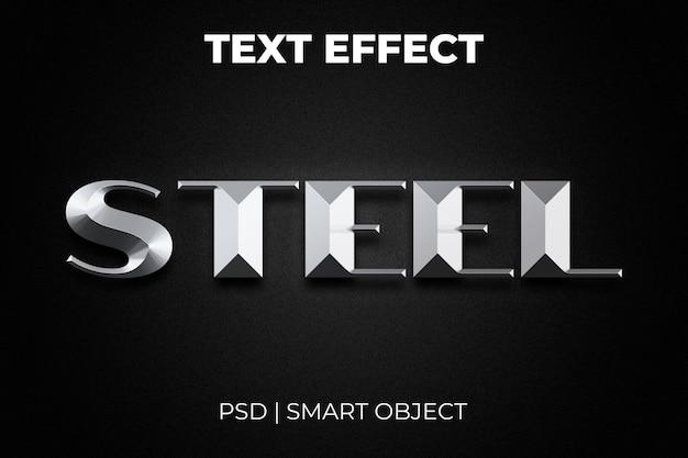 Effet de style de texte en acier