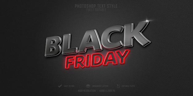 Effet de style de texte black friday 3d psd premium