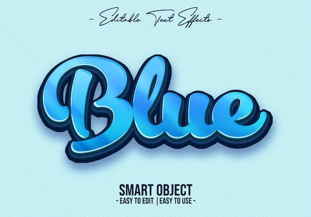 Effet de style texte bleu