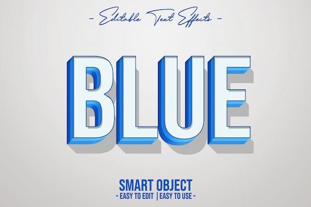 Effet style texte bleu