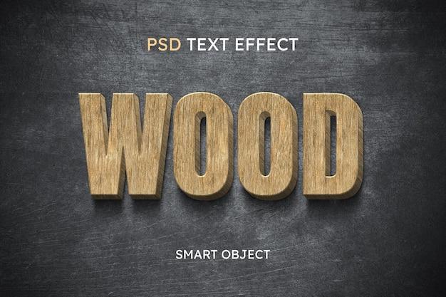 Effet de style de texte en bois