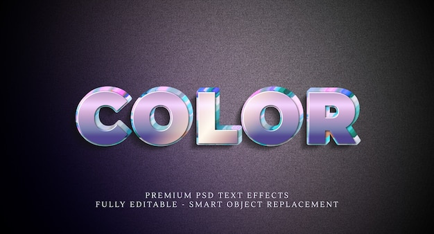 Effet de style de texte couleur psd, effets de texte psd premium