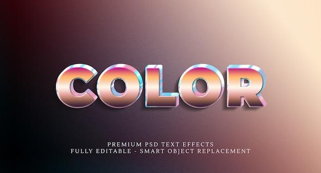 Effet de style de texte en couleur psd