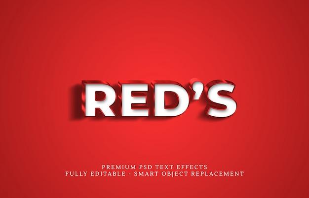 L'effet de style de texte du rouge