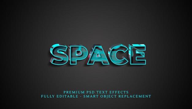Effet de style de texte d'espace psd, effets de texte psd premium