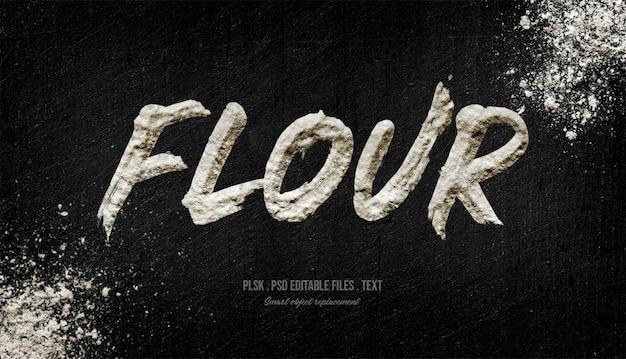 Effet de style de texte farine 3d
