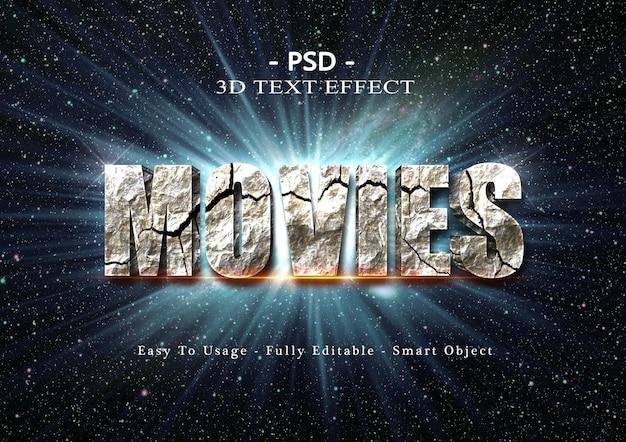 Effet de style de texte de films 3d