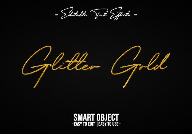 Effet de style texte glitter-gold