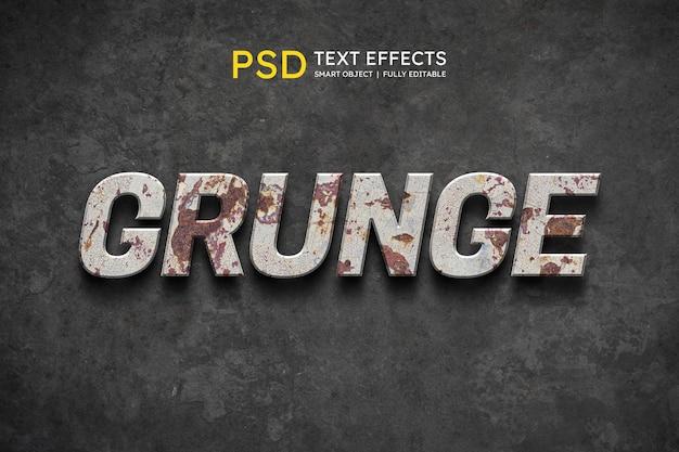 Effet de style de texte grunge