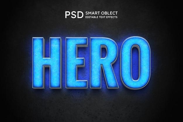 Effet de style de texte de héros