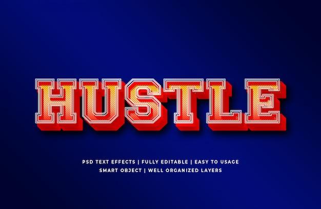 Effet de style de texte hustle