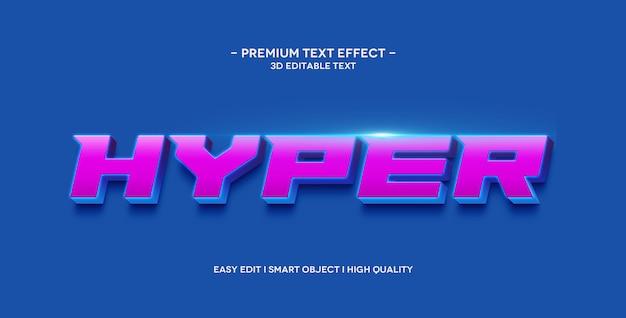 Effet de style de texte hyper 3d
