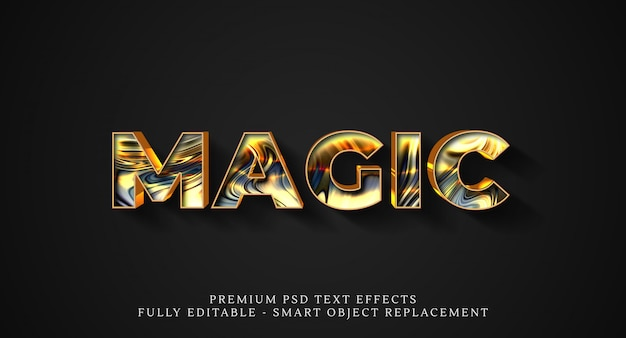 Effet De Style De Texte Magique Psd PSD Premium