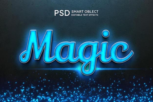 Effet de style de texte magique