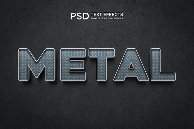 Effet de style de texte en métal