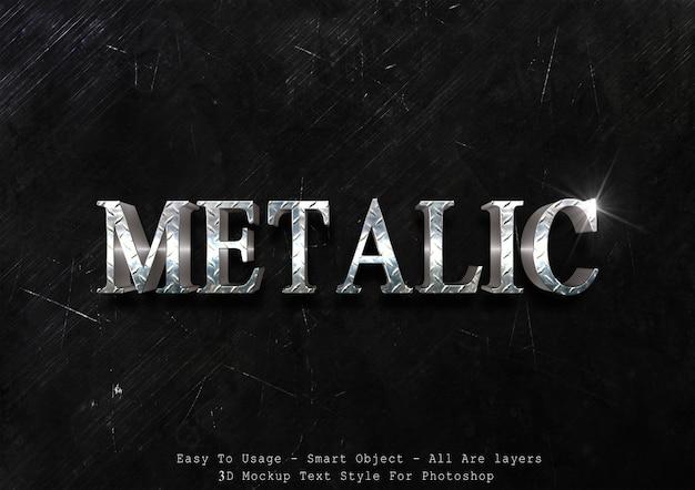 Effet de style de texte métallique 3d