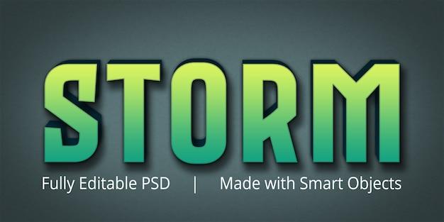 Effet de style de texte modifiable storm