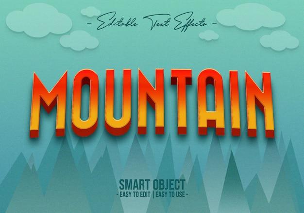 Effet de style texte de montagne