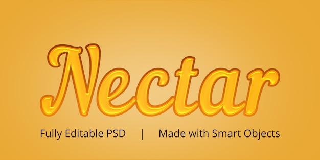 Effet de style de texte nectar
