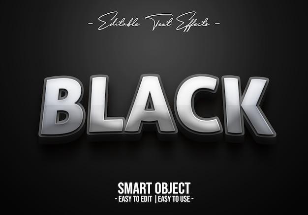 Effet style texte noir
